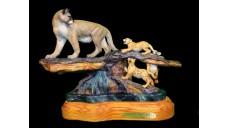 """Fundraiser- """"Slippery When Wet"""" Bronze Sculpture by David Manuel"""